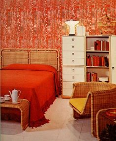 Retro Themed Bed Room Concepts – Home Unique Vintage Interior Design, Vintage Interiors, Contemporary Interior Design, Luxury Interior, Home Interior Design, Interior Architecture, Interior Decorating, Cafe Interior, Interior Ideas