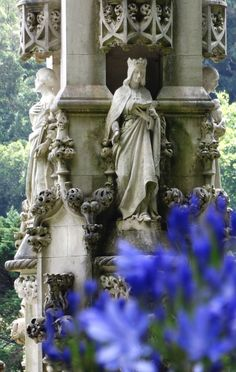 Quinta da Regaleira Palace in Sintra - Detailed Sculpture  ,Portugal