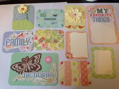 Spring Themed Project Life cards