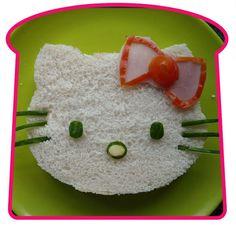 Kid fun food art: hello kitty