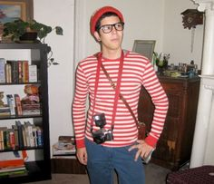 If have even an ounce of hipster in you, you probably have what you need to make a Where's Waldo costume:
