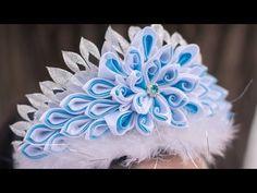 Корона Новогодняя Принцеса . Канзаши мастер класс / Crown Christmas Princesa . kanzashi masterclass - YouTube