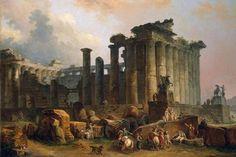 Hubert_Robert _-_ Ruins_of_a_Doric_Temple