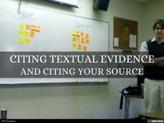 Citing Textual Evidence by teacher 1stop via slideshare