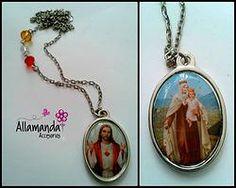 Medalla Doble Sagrado Corazón Y Maria Auxiliadora.