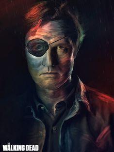 The Walking Dead portraits by Guilherme Marconi