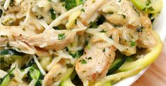 Discover our recipe rated by 8 members. Zoodle Recipes, No Salt Recipes, Alfredo Recipe, Chicken Alfredo, Recipe For 4, Home Recipes, Pasta Salad, Potato Salad