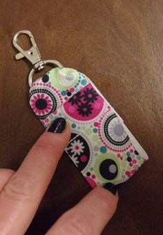 Diy Clip On Ribbon Lip Balm Holder With Images Lip Balm Holder Chapstick Holder Sewing Crafts