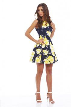 Floral Print Skater Dress - AX Paris