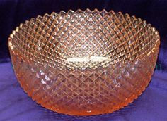Miss America Depression Glass Crystal | Vintage Anchor hocking miss america Pink Depression Glass fruit bowl