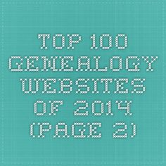 Top 100 Genealogy Websites of 2014 (page