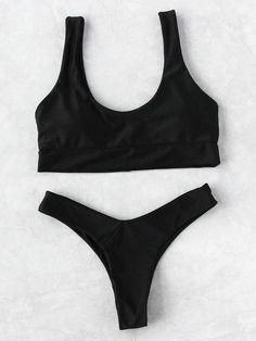 Shop Scoop Neck Beach Bikini Set online. SheIn offers Scoop Neck Beach Bikini Set & more to fit your fashionable needs. #swimwear#style#woman#fashion