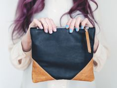 LIBRO CLUTCH - Black Leather Marked by scoutandcatalogue on Etsy https://www.etsy.com/listing/217630542/libro-clutch-black-leather-marked