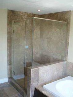 glass shower enclosures frameless | Diamond Glass and Mirror • DGMGlass.com • Birmingham, Alabama