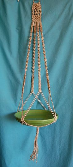 Just Hemp Macrame Plant Hanger No Beads by FunkyJunkyVintage, $40.00
