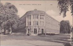 Find Maine Augusta Cony High School in Postcards, U. Views, Maine, Unclassified category on Playle's. Augusta Maine, Vintage Postcards, Lighthouse, Past, High School, America, History, City, Places