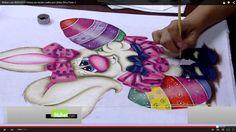 Mulher.com 06/03/2015 Pintura em tecido coelho por Lilinha Silva