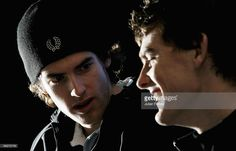 Brothers Andy Murray (L) and Jamie Murray of Scotland talk to the media previewing the Aberdeen Tennis Cup on November 25, 2005 at the Marcliffe Hotel in Aberdeen, Scotland.