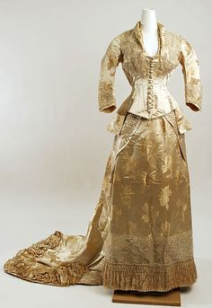 Wedding dress Date: early 1880s Culture: American