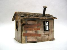 The Museum of California Art. Clay Houses, Ceramic Houses, Paper Houses, Miniature Houses, Art Houses, Driftwood Sculpture, Driftwood Art, Building Art, Old Barns