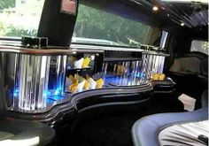 Connecticut White Hummer Limo interior