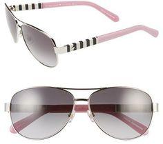 Women s kate spade new york  dalia  58mm aviator sunglasses - Silver  Lunettes De Soleil 6885c4fdc709