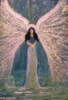 Aceo Cape COD Artist Original Acrylic Painting Healing Angel SKY Stars Glittered | eBay