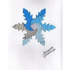 Image detail for -a5 iris folding template pattern x2 snowflake