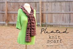 DIY Pleated Knit Scarf