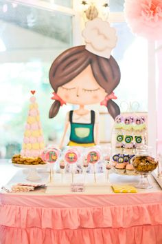 Stella's Little Baker Themed Party – Dessert Spread