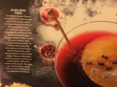 Blood Moon Punch from Martha Stewart Living, October 2016