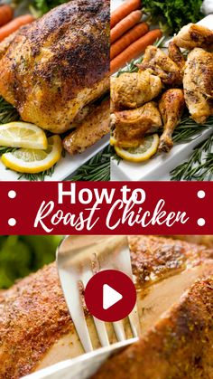 Whole Chicken In Oven, Baked Whole Chicken Recipes, Perfect Roast Chicken, Cooking Whole Chicken, Whole Roasted Chicken, Roast Chicken Recipes, How To Roast Chicken, Pork Roast, Roast Brisket
