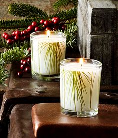 makes my house smell like christmas! a favorite.  Pin-It-To-Win-It: Thymes Frasier Fir Votive Candle