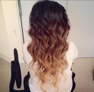 Brunettes have an advantage when it comes to Ombre hair coloring. Naturally dark roots allow for the most interesting color selections. You can choose any of the following combinations: Chestnut brown roots with Golden brown ends, Dark brown roots with Yellow gold ends, Deep red brown roots with Apricot ends or Chocolate brown roots with Flame red ends. Be sure to try it!