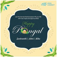 May this festival brings opportunities your way, turning all your efforts into great achievements. We wish you a happy festival season. Sustainable Farming, Sustainability, Happy Pongal, Aqua Culture, Machine Learning, Farmer, Turning, Seasons, Woodturning