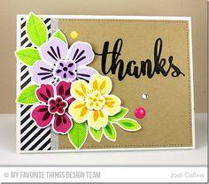 Flashy Florals Stamp Set and Die-namics, Thanks & Hello Die-namics - Jodi Collins  #mftstamps