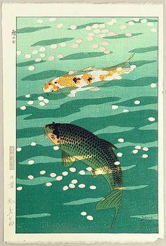 Shiro Kasamatsu 1898-1992 - Carp