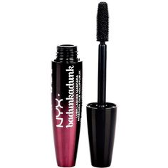 Charlotte Russe NYX Badunkadunk Mascara ($7) ❤ liked on Polyvore featuring beauty products, makeup, eye makeup, mascara, beauty, black, filler and charlotte russe