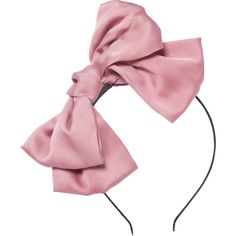 DOLLY by Le Petit Tom BIG HAIR-BOW HEADBAND many colors (45 RON) ❤ liked on Polyvore featuring accessories, hair accessories, chiffon headwrap, head wrap headbands, head wrap hair accessories, hair band accessories and headband hair accessories