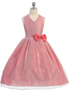 Your little princess will gleam with joy in this lovely twinkling gown. The…