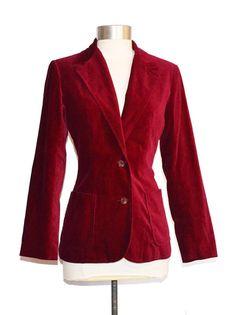 Vintage Nordstrom Town Square Velvet Blazer size 10 item #9025 by MercantileRepublic on Etsy