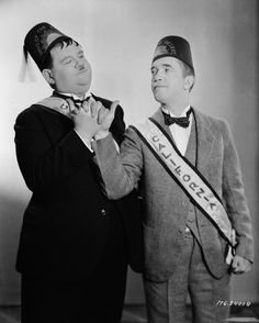 """Here's another nice mess you've gotten me into!  Ollie/ Oliver Hardy in Sons of the Desert (1939)"
