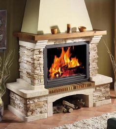 Outside Fireplace, Build A Fireplace, Cottage Fireplace, Home Fireplace, Faux Fireplace, Fireplace Remodel, Fireplace Design, Classic Fireplace, Brick Siding