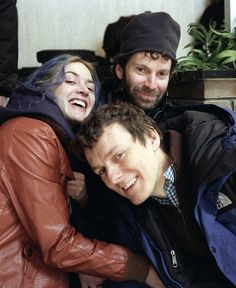 Kate Winslet, Charlie Kaufman and Michel Gondry on the set of Eternal Sunshine of the Spotless Mind