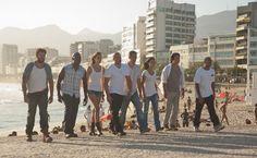 Fast Five: Matt Schulze (Vince), Tyrese Gibson (Roman Pearce), Gal Gadot (Gisele Harabo), Vin Diesel (Dominic Toretto), Paul Walker (Brian O'Conner), Jordana Brewster (Mia Toretto), Sung Kang (Han), Ludacris (Tej Parker)