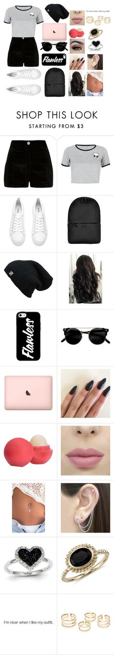 """""""Megan #1"""" by megxnmclxren ❤ liked on Polyvore featuring River Island, WithChic, Rains, Eos, Otis Jaxon, Kevin Jewelers and Blue Nile"""