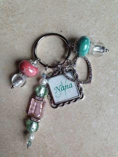 Handmade Customized Personal Beaded Keychains via Etsy