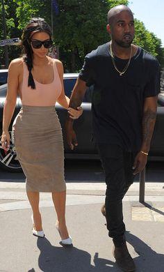 Kim & Kanye in Paris