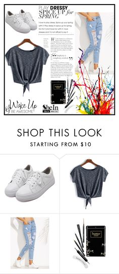"""SheIn"" by munevera-berbic ❤ liked on Polyvore featuring WithChic, Butter London, WALL and shein"