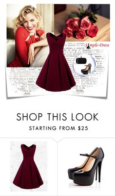 """Simple-Dress"" by majagirls ❤ liked on Polyvore featuring Post-It, Alexander McQueen, vintage and simpledress"